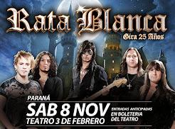 """RATA BLANCA EN EL """"TEATRO 3 DE FEBRERO"""" - 08/11/2014"""