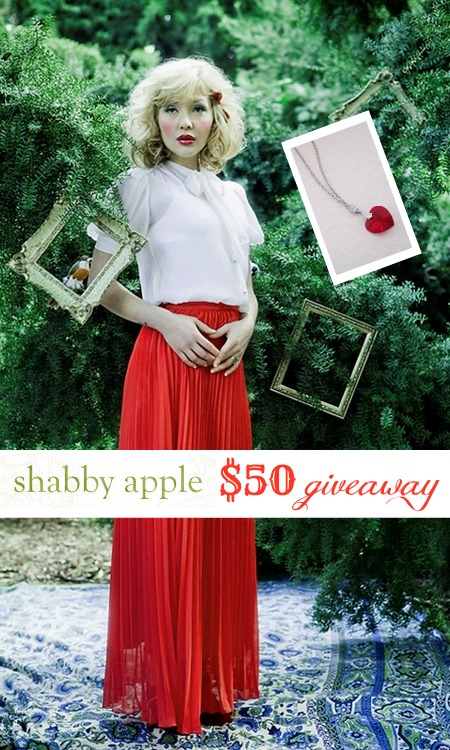 Shabby Apple $50 giveaway