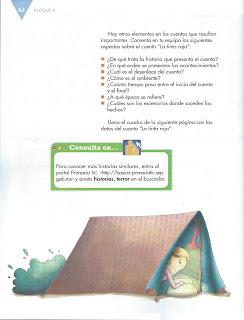Apoyo Primaria Español 6to Grado Bloque II Lección 5 Escribir cuentos de terror o misterio para su publicación