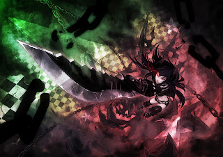 Black Gold Saw Arm Guard Sword Chain Anime Girl HD Wallapper Desktop PC Background 1723