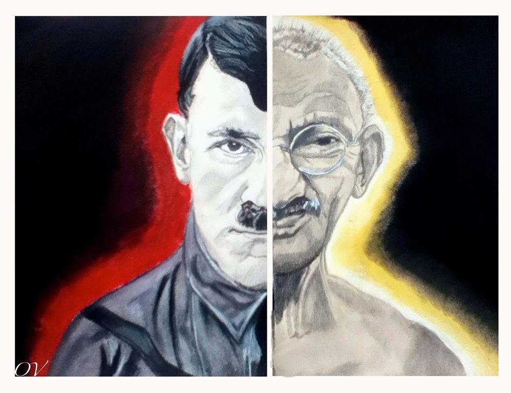 gandhi and hitler Q mr gandhi, i understand the concept of non-violence and civil dis-obedience do you really think it would work in all situations for example, against a monster like hitler.