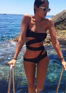 Eiza Gonzalez muestra figura viaje a Italia