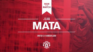 Juan Mata Man of the Match MU vs Sunderland 3-0