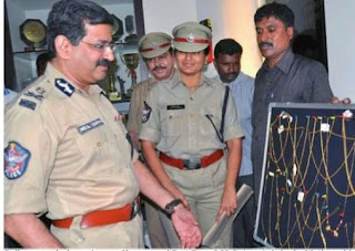 Police commissioner Anurag Sharma and East Zone DCp R. Jaya Lakshmi