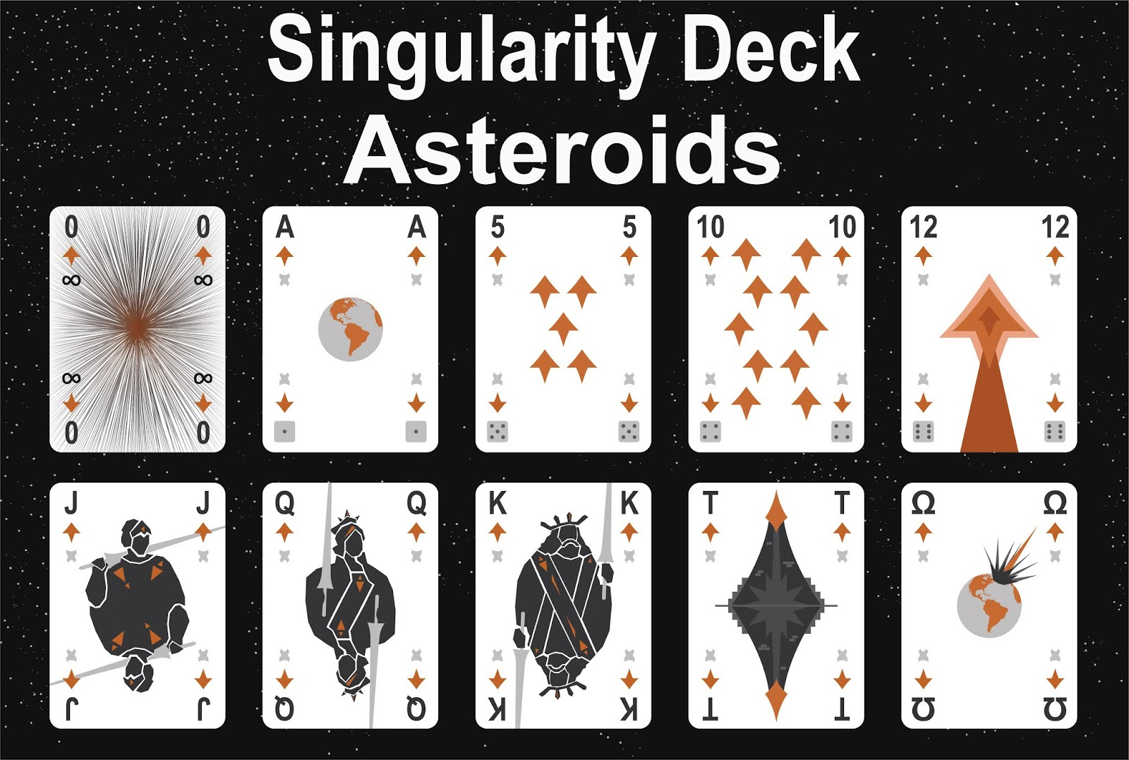 The Singularity Deck - Asteroids Art