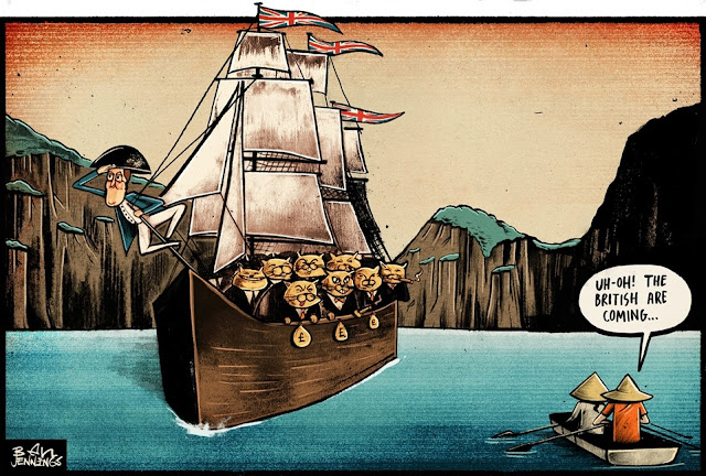 Cartoon - Ben Jennings on David Cameron's trip to south-east Asia