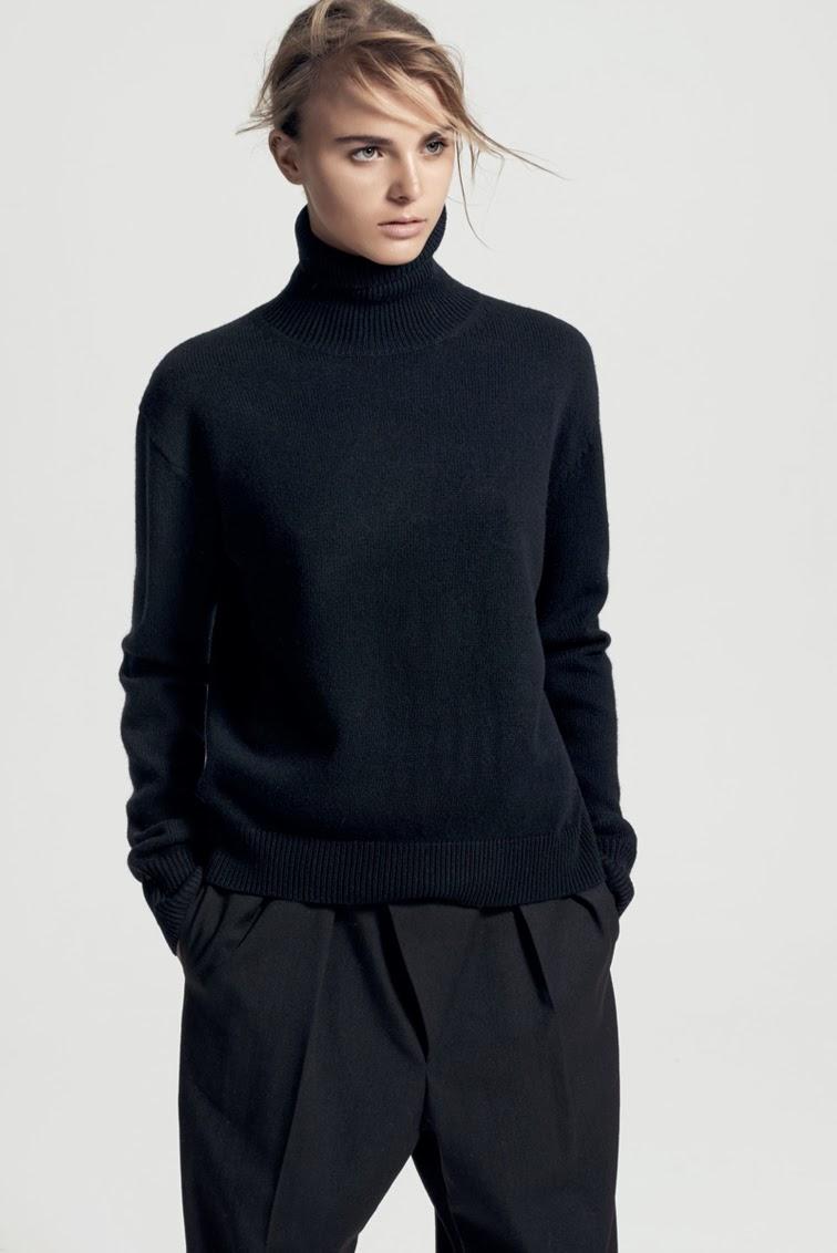 Minimalism, knitwear, turtleneck, all black, menswear tuxedo pants