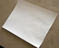 Загрунтованный лист бумаги с текстурой (через маску)
