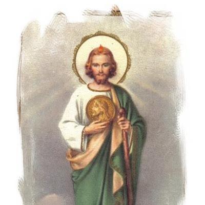 San Judas Tadeo con el Madallon y el garrote