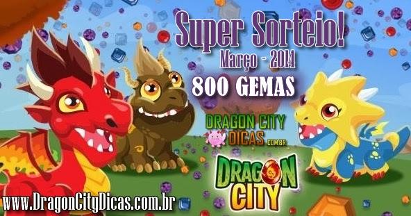 Super Sorteio - Concorra à 800 Gemas - Março