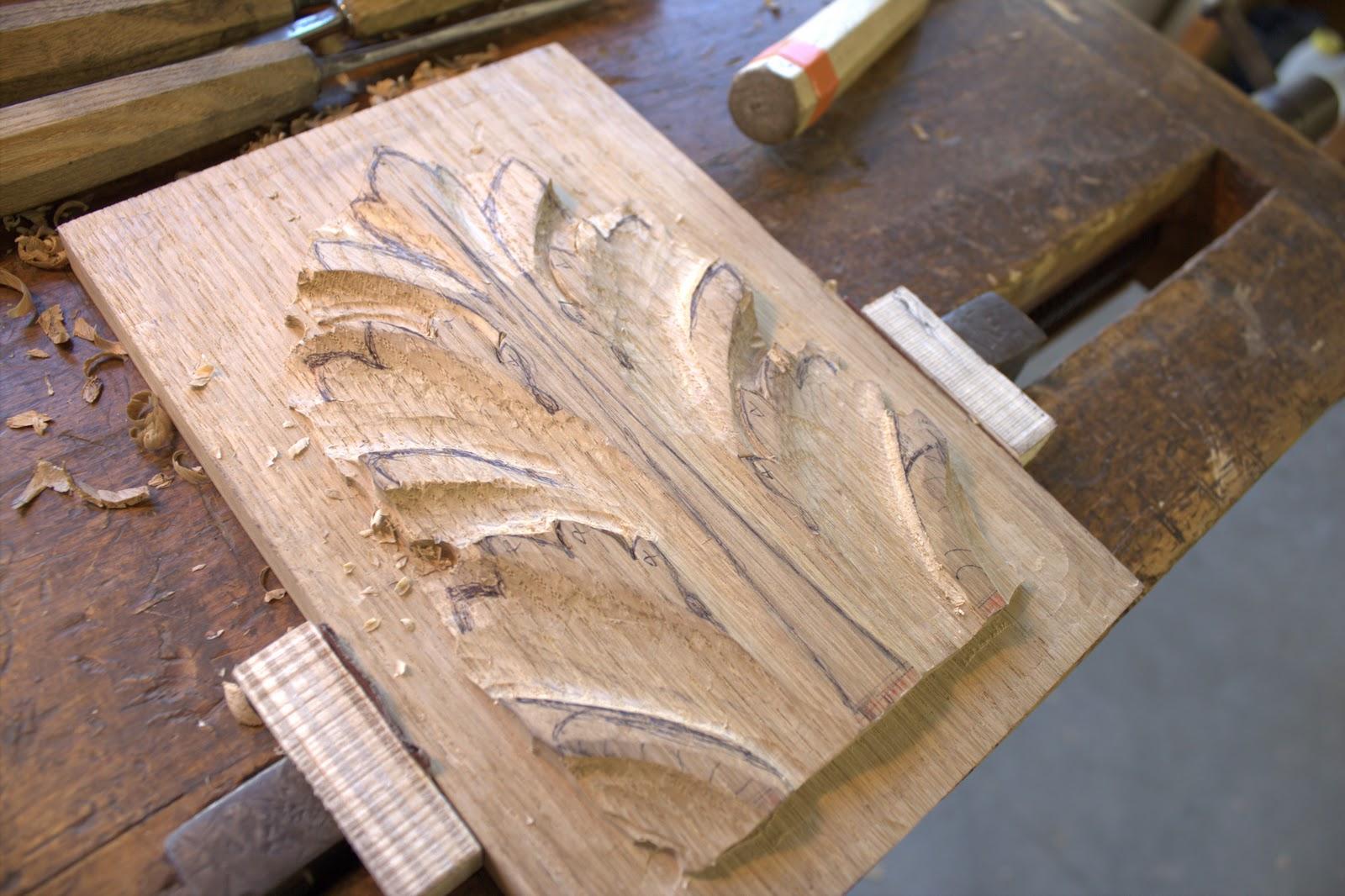 L 39 appel du bois exercice feuille d 39 acanthe et coquille - Coquille saint jacques dessin ...