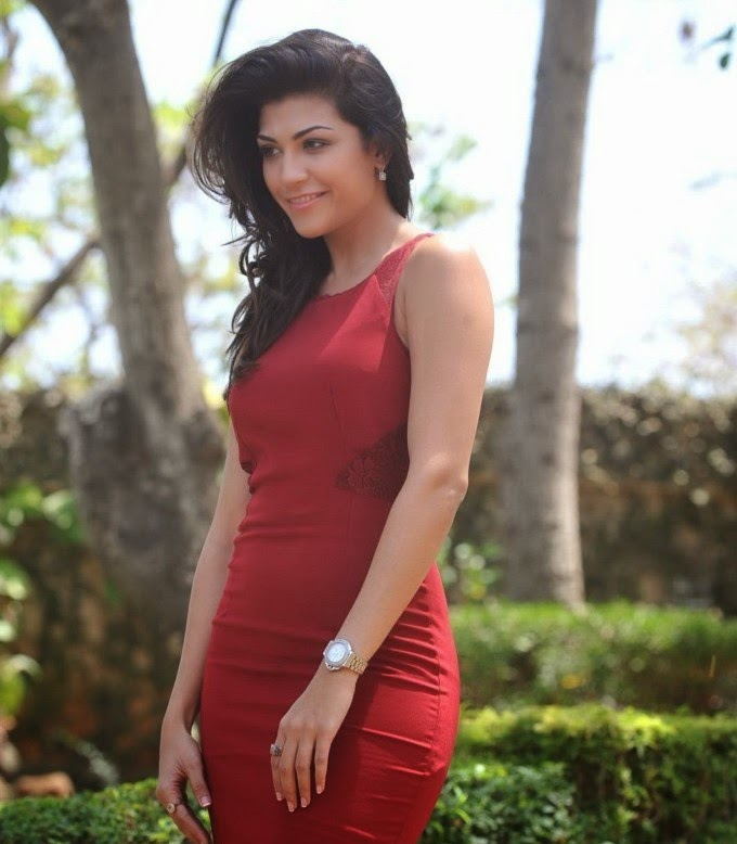archana-vijaya-looking-sexy-in-red-dress