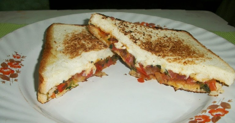 YUMMY TUMMY: Indian Style Grilled Cheese Sandwich with Tomato Chutney