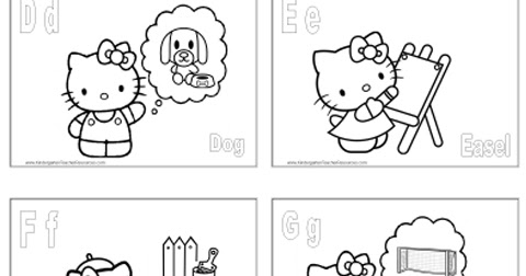 ABC Coloring Pages Hello Kitty Alphabet Coloring Pages