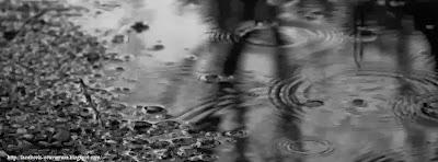Couverture facebook pluie en noir et blanc