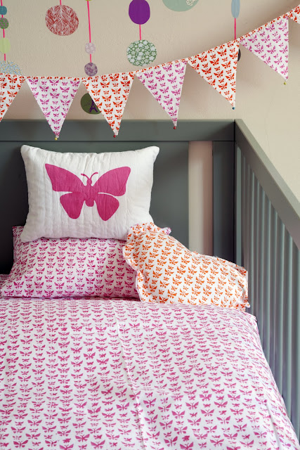 Lulu & Nat | Girls Bedding | Toddler Duvet | Butterfly