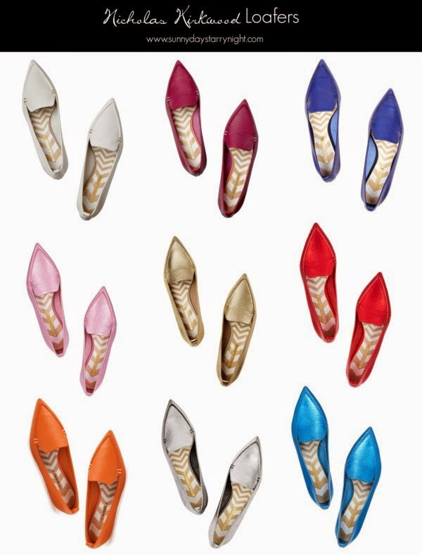 nicholas kirkwood point toe flats