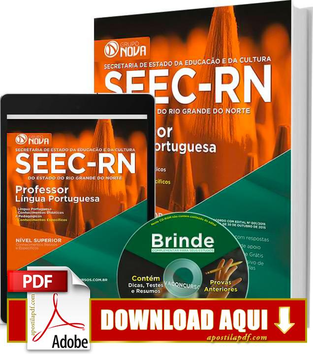 Apostila SEEC RN 2015 Professor Língua Portuguesa Impressa PDF Grátis Download