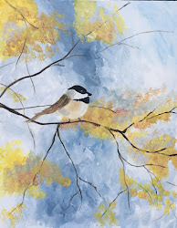 Chickadee in Fall