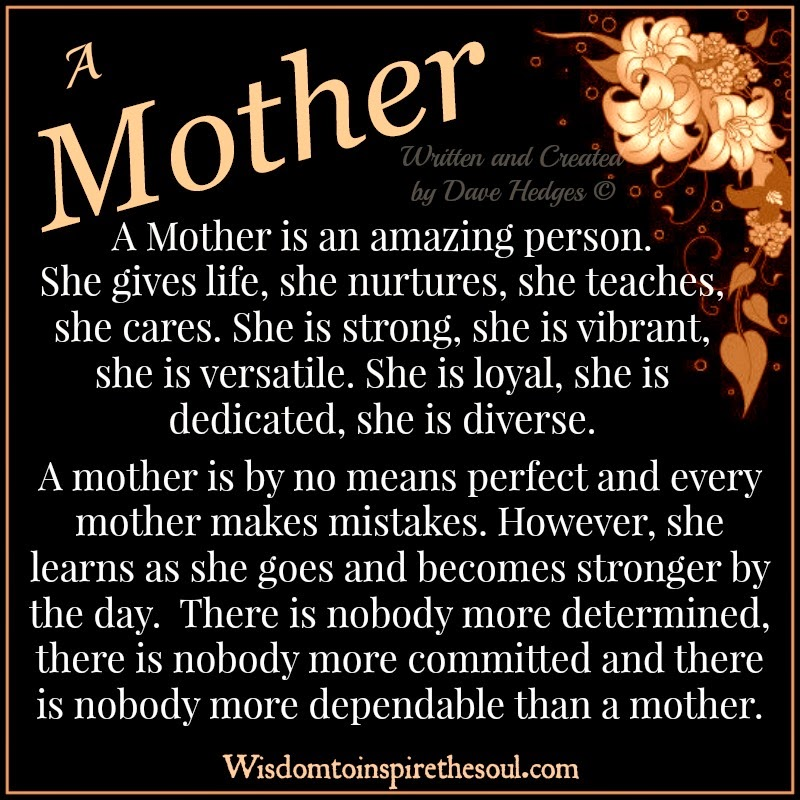 Amazing Person: Wisdom To Inspire The Soul: A Mother Is An Amazing Person