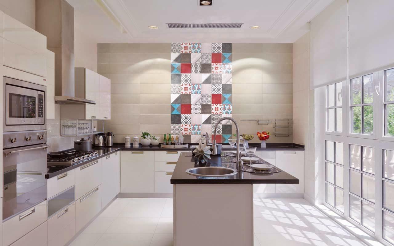 Decora Inova  Falso ladrilho hidráulico 25 ambientes com os pitorescos azul # Azulejo Cozinha Horizontal