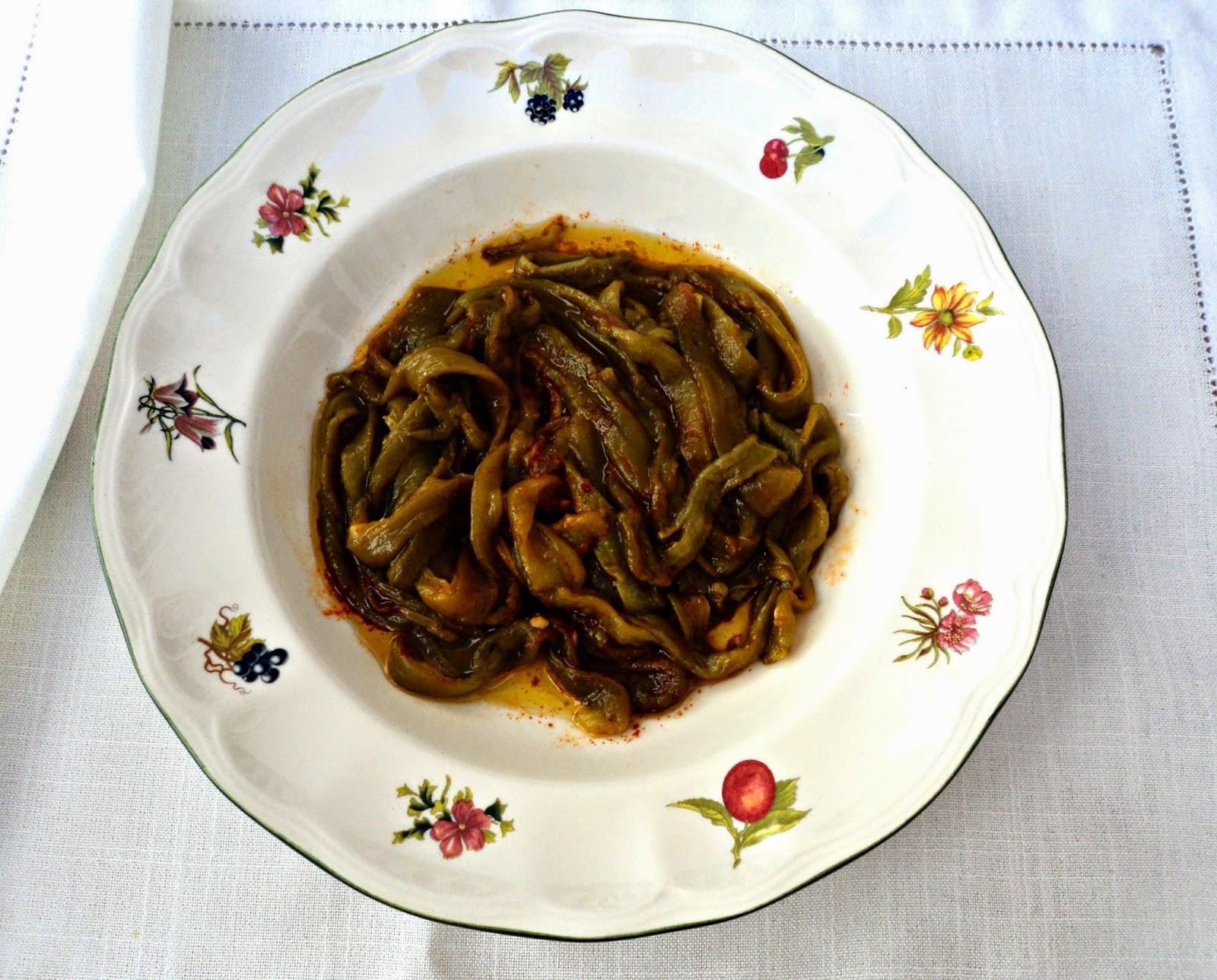 ensalada pimientos asados olor a hierbabuena