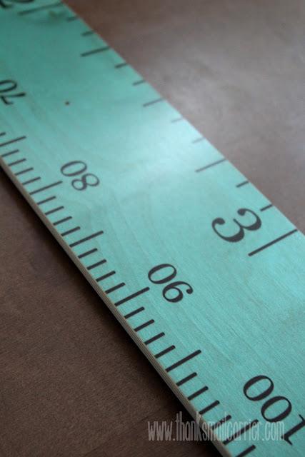 Growth Chart Art ruler