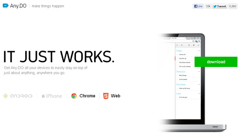 Any.do para Android y Google Chrome - www.dominioblogger.com