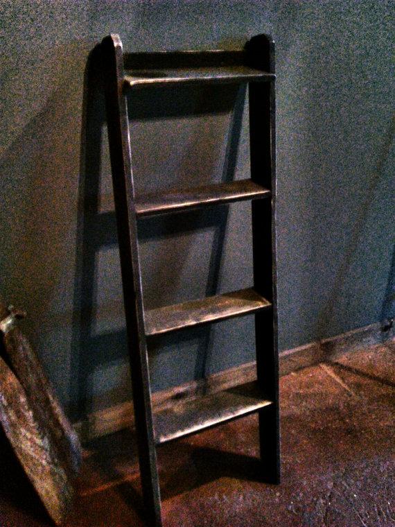 Ladder Shelf Living Room Drawer