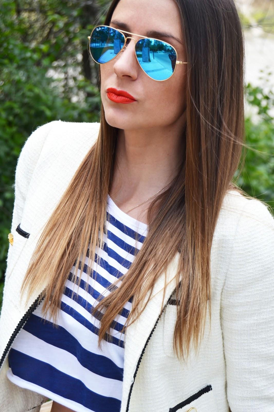 gafas ray ban aviator espejo azul
