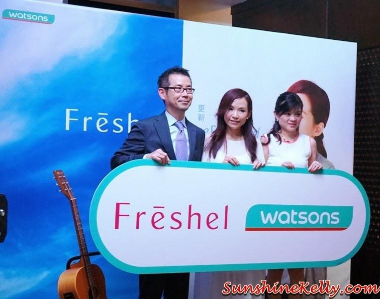 A Date with Yu Heng, Freshel Ambassador in Malaysia, Yu Heng, Freshel Ambassador, Masahiro Yamasaki, CEO of Kanebo Cosmetics Malaysia; Yu Heng, Freshel Ambassador in Malaysia; Caryn Loh, General Manager of Watsons Malaysia, freshel, japan skincare