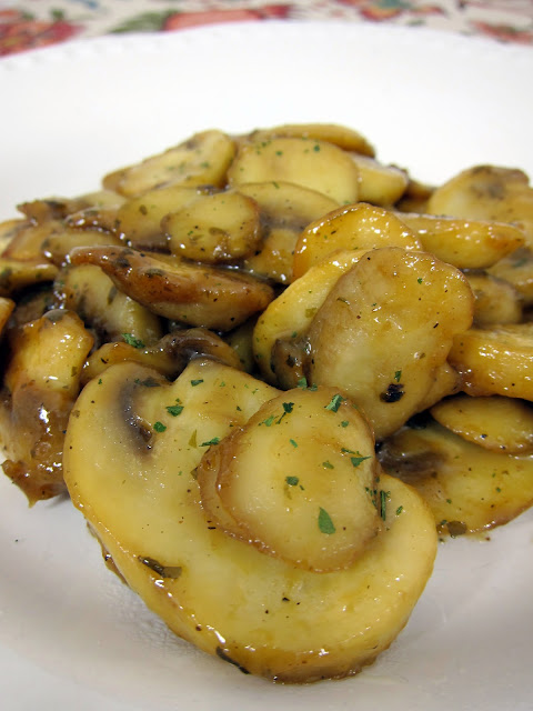 Sautéed Ranch Mushrooms Recipe - only 3 ingredients! So easy and ready in under 30 minutes. Great as a side or on top of chicken or steak.