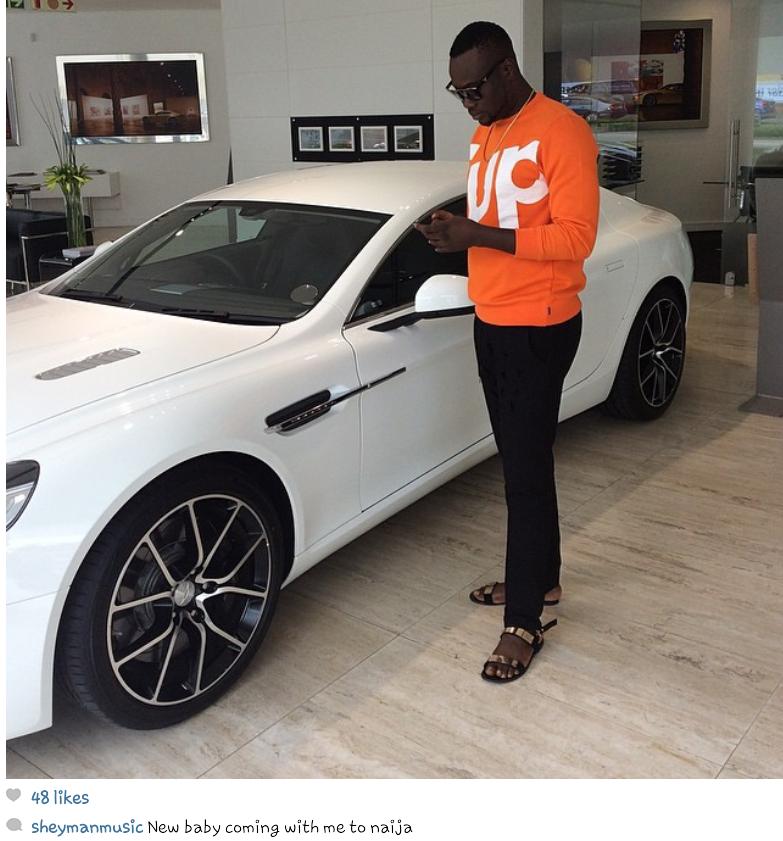Nigerian Artiste Sheyman Buys Aston Martin Car (Photo