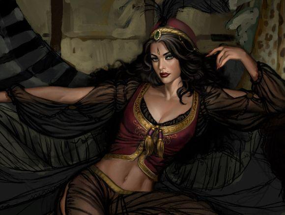 aly fell ilustrações mulheres sensuais fantasia sombria Sherry