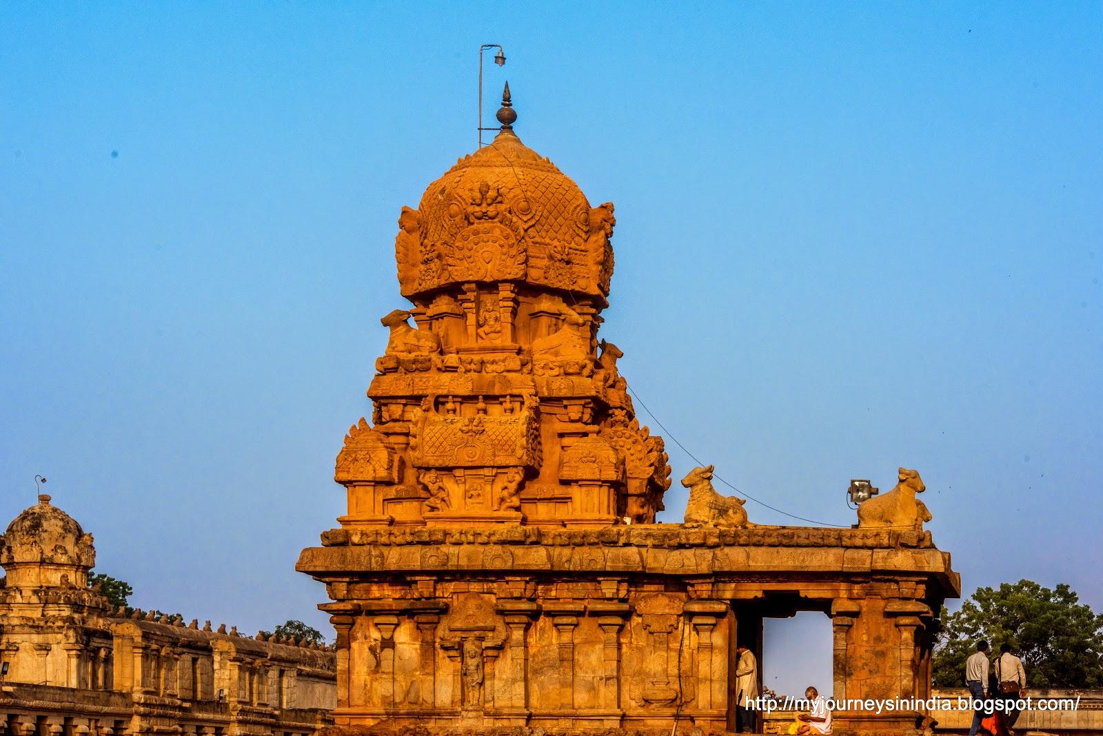 Thanjavur Brihadeeswarar Temple Chandikesvara Inner Tower