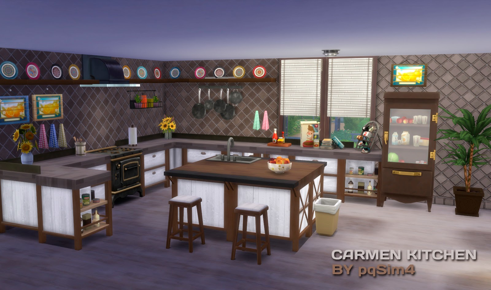 My sims 4 blog carmen kitchen decor recolors by pqsim4 for Sims 3 kitchen designs