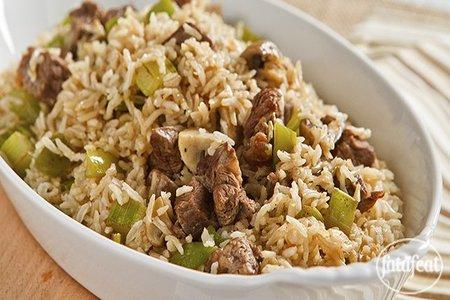 طريقة عمل طاجن اللحم والخضروات مع الأرز البني