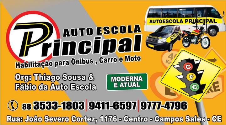 AUTO ESCOLA PRINCIPAL - HABILITAÇÃO PARA ÔNIBUS, CARROS E MOTOS!