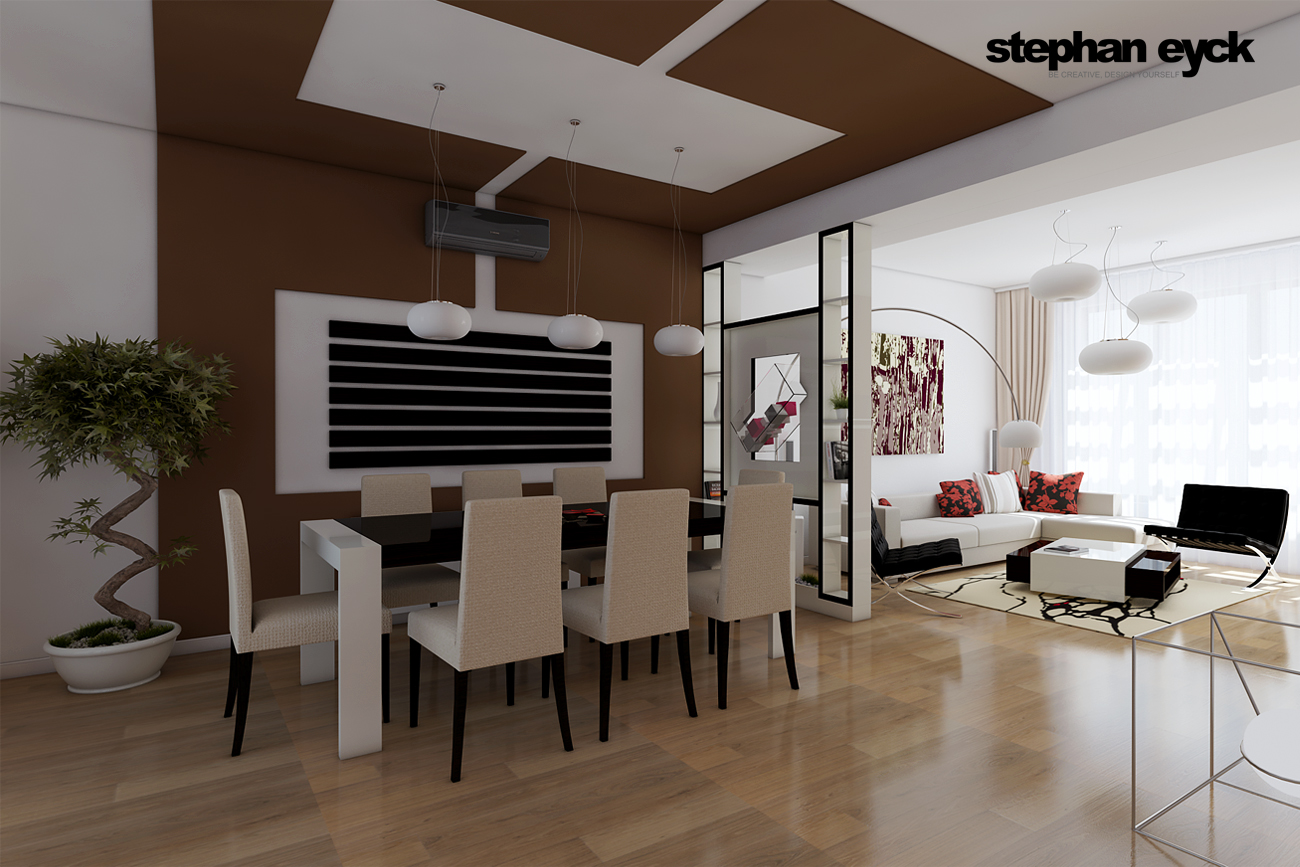 DESIGN INTERIOR LIVING SI DININGROOM - Casa P.H. - Galati title=