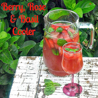 Berry Rose and Basil Cooler ~ Refreshing, delicious drink ~ recipe for Alcoholic AND Non-Alcoholic version #SummerDrink #DrinkRecipe #BerryDrink
