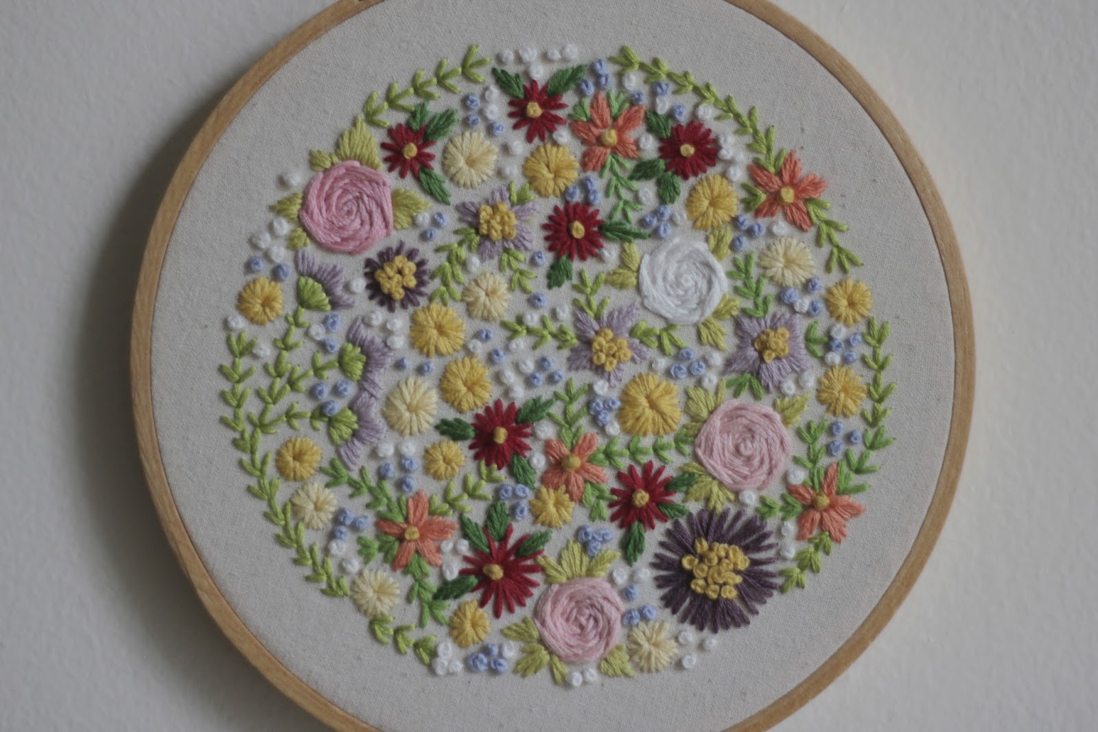Little projectiles floral embroidery