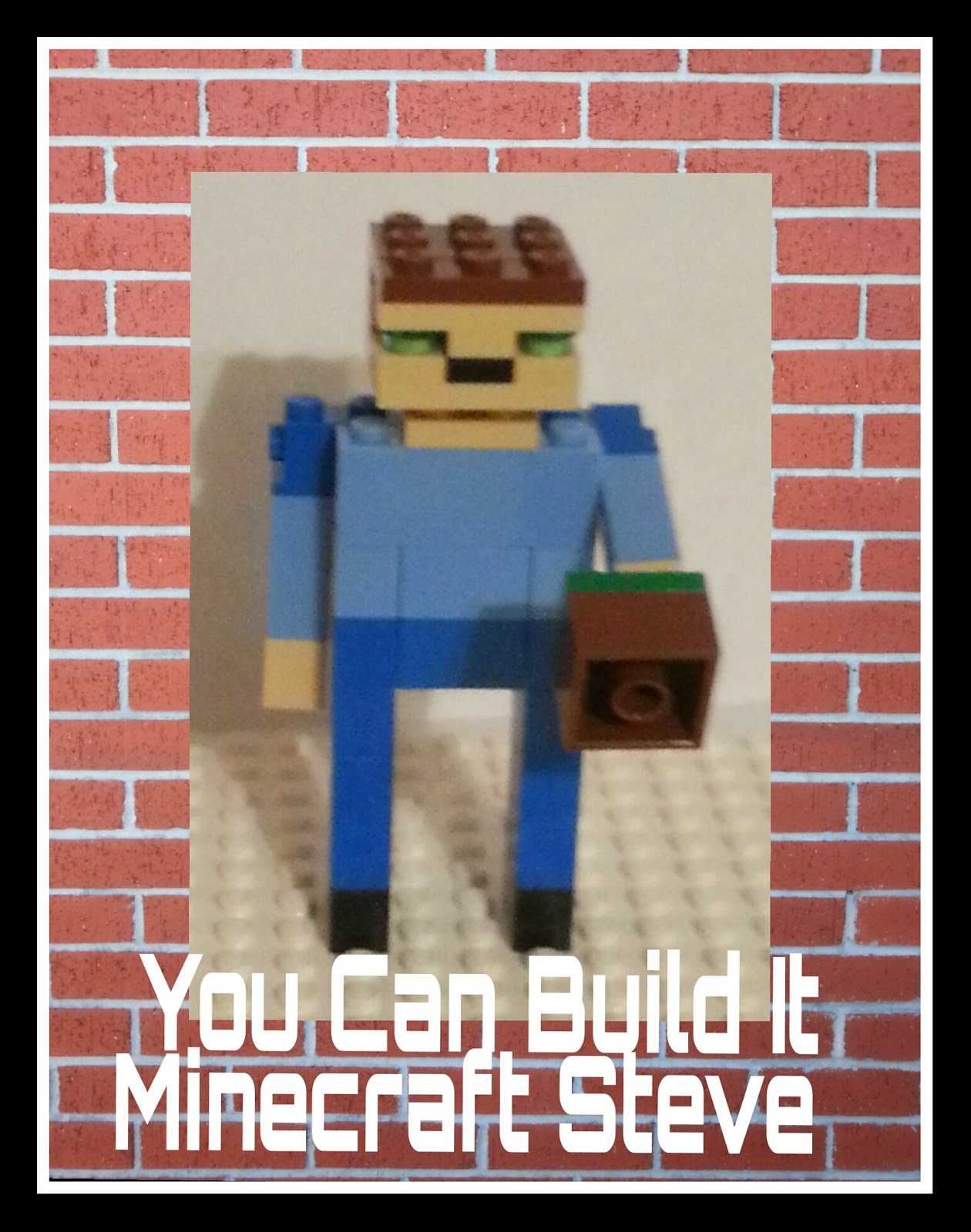 Video Instructions to Build Minecraft Steve out of LEGO Bricks