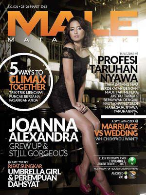 Pose Hot Joanna Alexandra Di Majalah Male