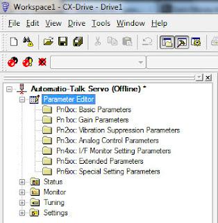 CX drive parameters