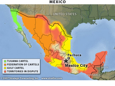 2007 Primary Mexican Cartels