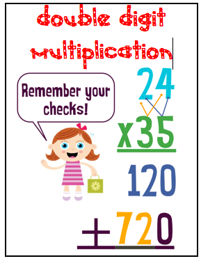 Say and other classroom treasures double digit multiplication signs