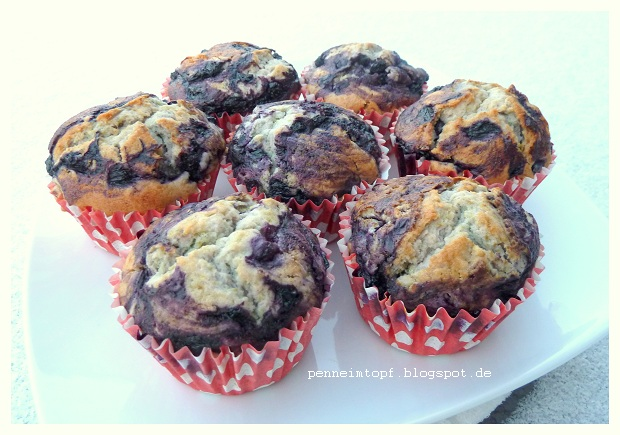 Rezept fur blaubeeren muffins