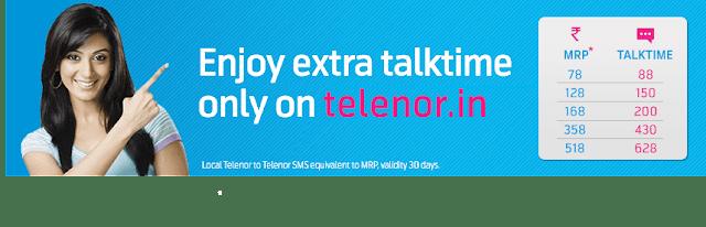 Telenor Extra Talktime offer banner