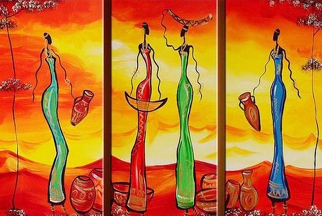 Nuevos Cuadros Con Africanas Cuadros Con Africanas Pintados Al Oleo