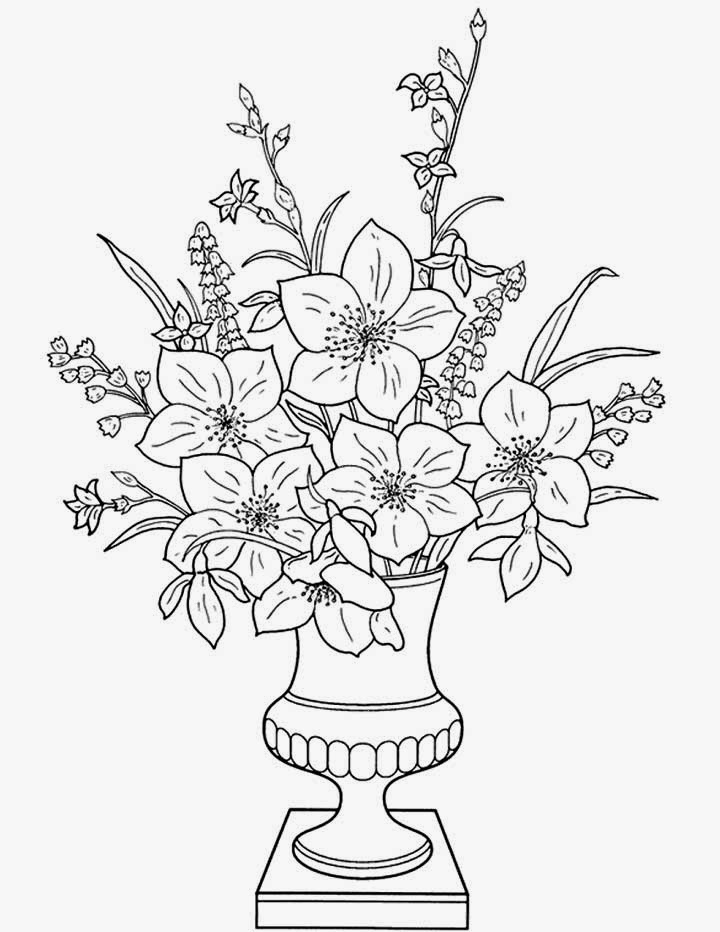 printable Alphabet Coloring Pages Vase